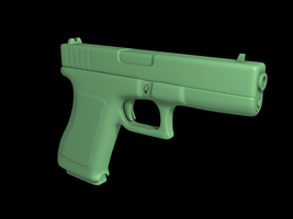 Glock high poly - no tex WIP by Reapsert