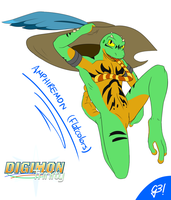 Amphiremon | Digimon Trinity flatcolor by G3Drakoheart-Arts