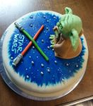 yoda star wars cake by CyanBlutgeissel