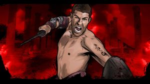 Liam McIntyre as Spartacus by akyanyme