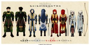 Shishin: Character Sheet by rekka