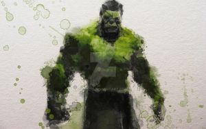 Hulk Water Colour by zosco