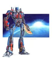 Optimus Prime by D34tHn0Te