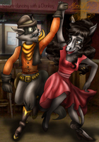 Square-Dancing with a Donkey by Moon-Shyne