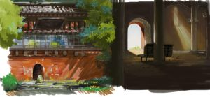 Scenes from Spirited Away by Aridax