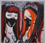 cybergoth michelle mistabys and mamzel'hope by keraberacrylique
