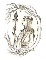 Elven Lightbearer by nolwen