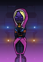 Dawn as Tali'Zorah by VaultMan