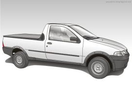 fiat strada vector by giographics