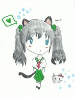 Neko Chibi Girl Drawing Challenge by Balloons-In-The-Sky
