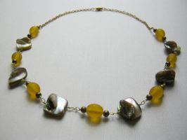 Yellow Shelled Necklace by aussiechicksteph