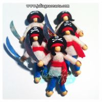 Army of Pirate Captain Pocket Dolls by JuliaGraceArts