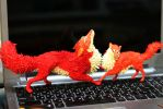 Two foxes WIPs by hontor
