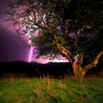 Lightning over The Mountains by IraMustyPhotography