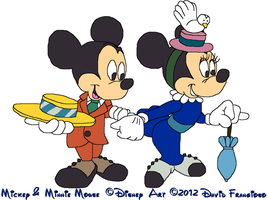 Mickey and Minnie Mouse - The Nifty Nineties by tpirman1982