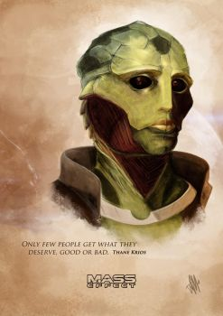 Thane Krios painting by WillFx