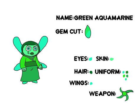 Green Aquamarine's reference sheet by ProtanaArchives94