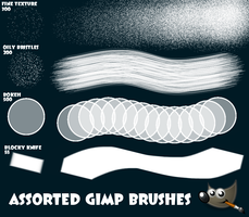 Four Assorted GIMP Brushes by PkGam
