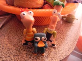 phineas, ferb y perry by celesteyupi