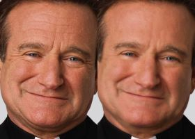 Robin Williams photo retouch by Stacey1mb