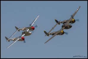 Lightning Strikes Twice by AirshowDave