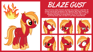 MLP OC Expanded Sheet : Blaze Gust by outlaw4rc