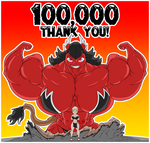 100,000 Page views! by Bioshin26