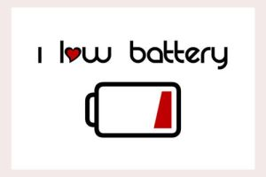 I low battery By wrongsideout by Sticker-stickers