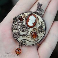 Steampunk cameo watch pendant2 by ukapala