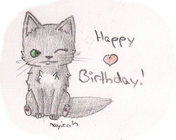 Laaaaate Birthdaygift for Cloud-Cat by Nayirah