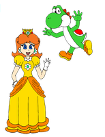 Daisy and Yoshi by ZeFrenchM