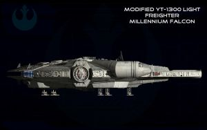 Millennium Falcon starboard elevation by unusualsuspex