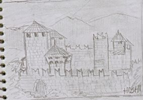 Scrapdrawing-castle by Paty-Longbottom21