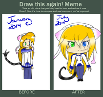 Draw This Again Meme by SkyeDragons