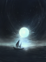 Alone in the sea by Obstination
