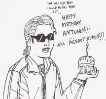 Happy 24th B Day to Antonia by RCWikkydArtist