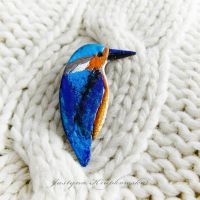 Kingfisher brooch 04 by szaranagayama