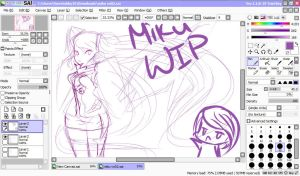 Miku VN02 W.I.P by SweetAbby1624