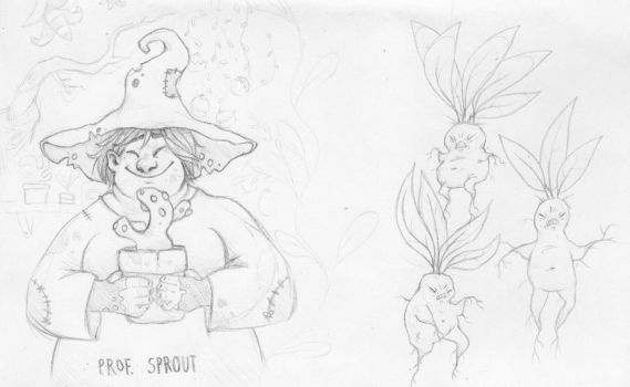 Prof. Sprout by linnzilla