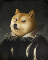 Portrait of Doge by MeganMissfit