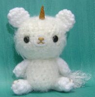 Amigurumi Unicorn Bear Sprite by amigurumikingdom