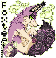 MFF Pixel Badge: Foxteeth by LovelessKia