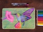 Plate: Colored Pencils on Wood by kayki03
