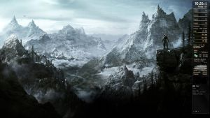 Skyrim Desktop by Zakafein