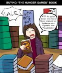 Buying The Hunger Games book by fiori-party