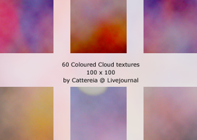 Texture Set 1: Coloured Clouds by Cattereia