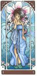 mucha-tribute: blue by kaffepanna