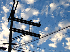Clouds and Wires by IcedOniYam