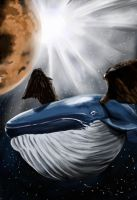 Space Whale book cover by Zippedbinders