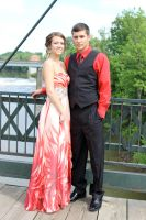 Cortney and Nathan on Prom Night by DementedInk